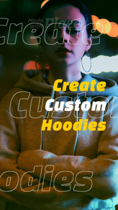 Instagram Story Video Creator to Showcase a New Line of Custom Hoodies 1367e-3069
