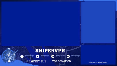 Twitch Overlay Creator for a Battle Royale Game Streamer 3532a