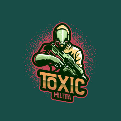 Gaming Logo Generator Featuring an Elite Soldier With a Hazmat Suit 4204b