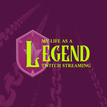 Gaming Streamer Logo Creator Inspired by The Legend of Zelda 4207h