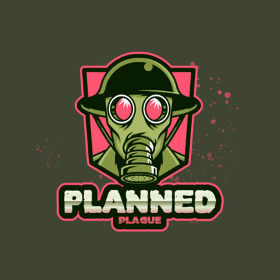Logo Maker for Gaming Streamers Featuring an Old Gas Mask Clipart 4204i