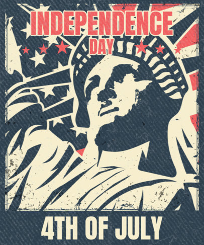 T-Shirt Design Template to Commemorate the 4th of July 3551