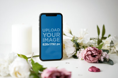 iPhone 11 Mockup Featuring Floral Ornaments 5149-el1