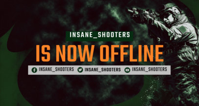 Gaming Twitch Banner Creator Featuring a Shooter Graphic 3533c