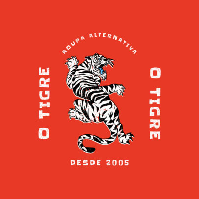 Streetwear Brand Logo Generator with a Japanese-Inspired Tiger Graphic 4217b