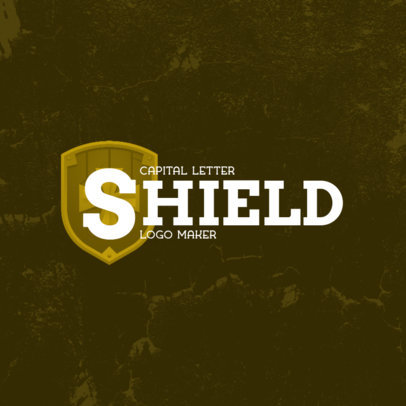 Typography Logo Generator Featuring a Warrior's Shield 4207j