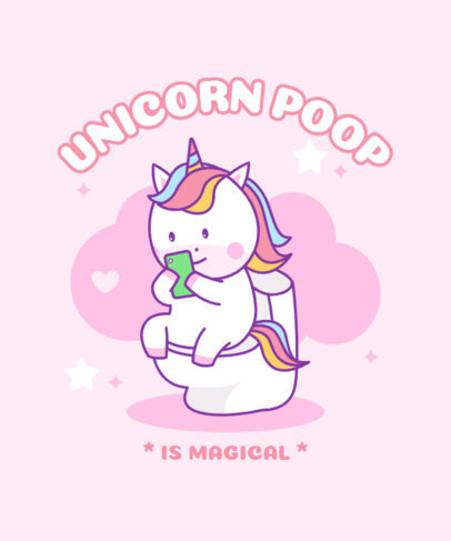 T-Shirt Design Generator Featuring a Funny Unicorn Cartoon 3758b-el1