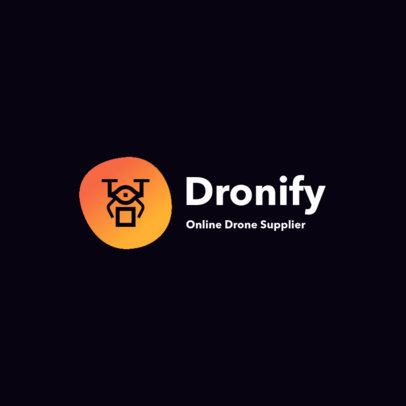 Dropshipping Logo Maker for an Online Drone Store 3770-el1
