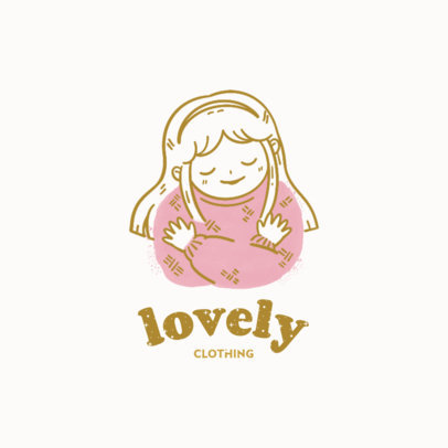 Logo Generator for Kids' Clothing Brands Featuring Adorable Illustrations 4236