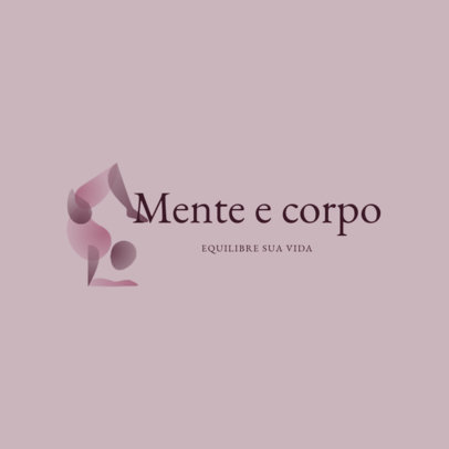 Logo Generator Featuring a Yoga Pose and a Portuguese Text 4221a