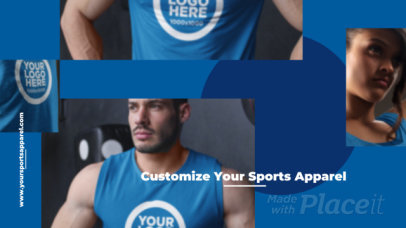 Intro Maker for a Customizable Sportswear Site Video 328a-3089