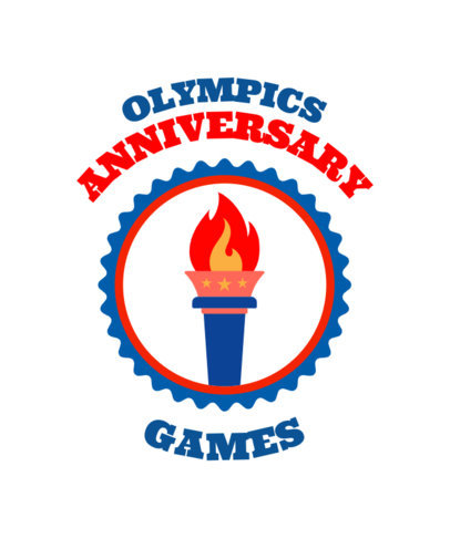 T-Shirt Design Template to Commemorate the Olympic Games 42a