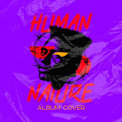 Album Cover Generator for Musicians Featuring Colorful Motives and Faces 4237