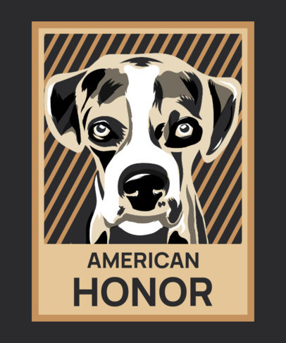 Political-Style T-Shirt Design Template with an Awarded Dog Illustration 3555e