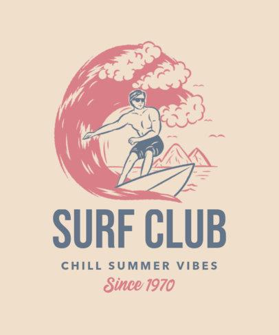 Retro T-Shirt Design Maker Featuring Surf-Themed Illustrations 3567