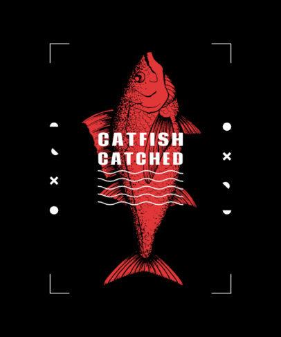 T-Shirt Design Maker Featuring a Fish Illustration 3781