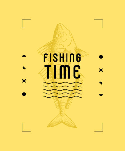 T-Shirt Design Generator for Fishing Enthusiasts Featuring a Minimal Style 3781e