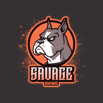 Logo Creator for a Gaming Team Featuring a Bulldog Face Illustration 4230c