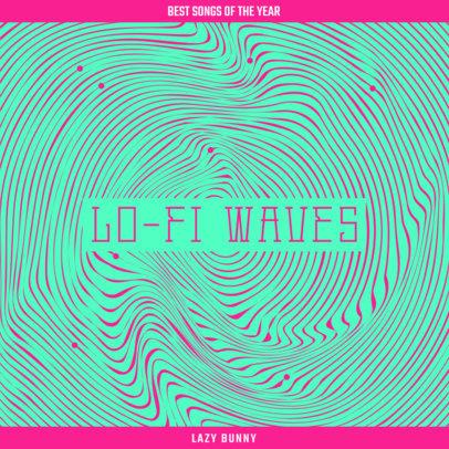 Album Cover Design Creator for a Lo-Fi Music Compilation 3579b