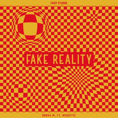 EDM Album Cover Design Generator with an Optical-Illusion Backdrop 3579c