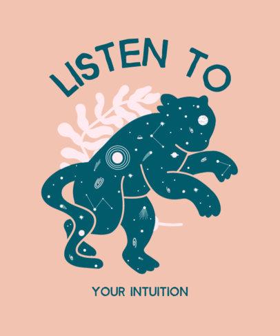 Quote T-Shirt Design Generator Featuring a Mystical Jaguar Silhouette 3580c