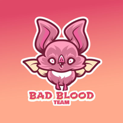 Logo Template for Gaming Teams Featuring a Cute Vampire Cartoon 4228d