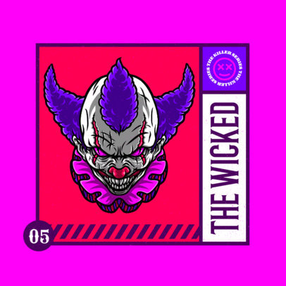 Logo Generator with an Illustration of a Creepy Clown  4229d