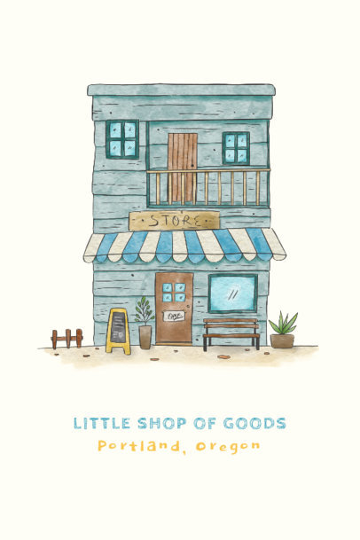 Poster Design Generator with an Illustration of a Rustic Store 4232a