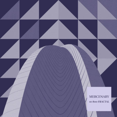 Post-Rock Album Cover Generator with a Minimalistic Pattern 3571d
