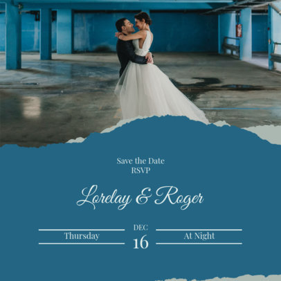 Wedding-Themed Instagram Post Design Template for Soon-to-Be-Married Couples 3644c-el1