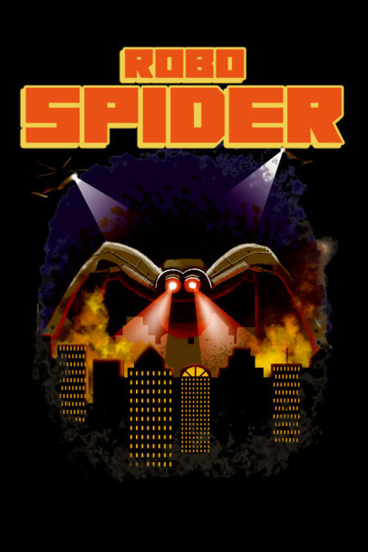 Pulp Movie-Inspired Poster Design Maker Featuring a Giant Spider 3568a