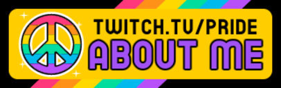 Twitch Panel Design Template with LGBTQ-Themed Sticker Graphics 3586