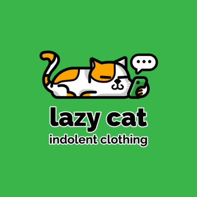 Streetwear Logo Maker Featuring a Slacking Cat 264c-el1