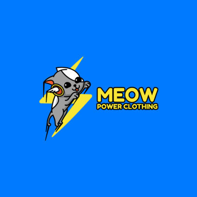 Streetwear Logo Template with the Illustration of an Energized Cat 264f-el1