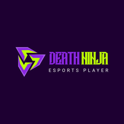 Simple Logo Maker for an eSports Player 3354f-el1