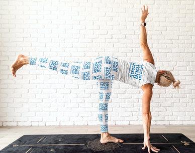 Leggings and Tank Top Mockup of a Woman Doing Yoga m4301-r-el2
