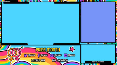 LGBT-Themed Twitch Overlay Maker with Groovy Graphics 3586a