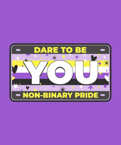 LGBTQ T-Shirt Design Maker with an Encouraging Quote 3595b