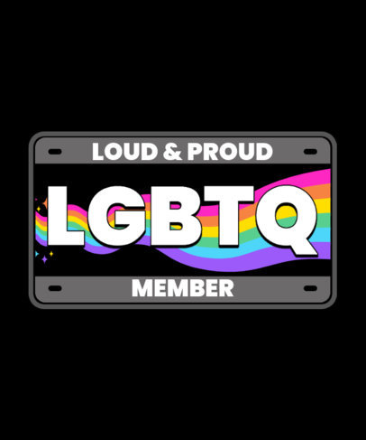 T-Shirt Design Creator for a Loud and Proud LGBT Community  3595h
