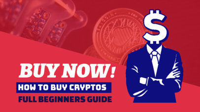 YouTube Thumbnail Design Template For Cryptocurrency Trading Coaches 3585a
