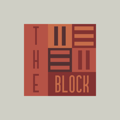 Chaotic Logo Template Featuring a Blocks Layout 4260c