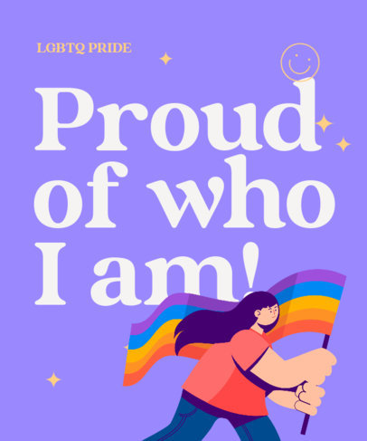 T-Shirt Design Generator Featuring an LGBT-Pride Quote 3592a