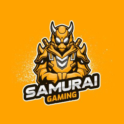Gaming Logo Creator Featuring a Cybernetic Samurai 3500b-el1