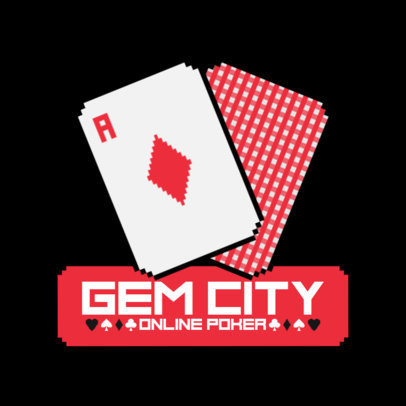 Online Casino Logo Template Featuring an Ace Card Clipart 3793b-el1