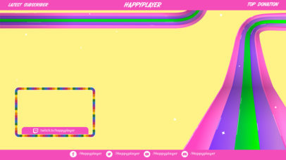 Twitch Overlay Design Generator Featuring a Colorful Webcam Frame 3589c