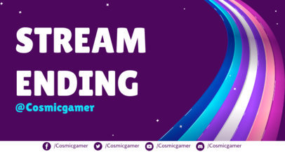 Twitch Overlay Generator for an Ending Stream Featuring an LGBTQ Theme 3589a