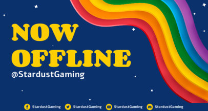 Offline Banner Creator for Gamers Featuring Rainbow Colors 3589b
