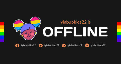 Twitch Offline Banner Template for an LGBTQ-Supportive Streamer 3588b