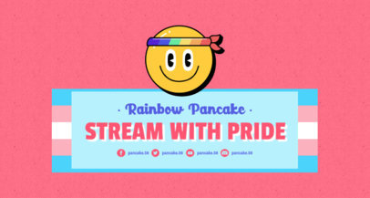Twitch Banner Generator for LGBTQ Pride Month Featuring Colorful Icons 3590c