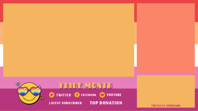 Twitch Overlay Design Maker With an LGBTQ Pride Month Theme 3590f